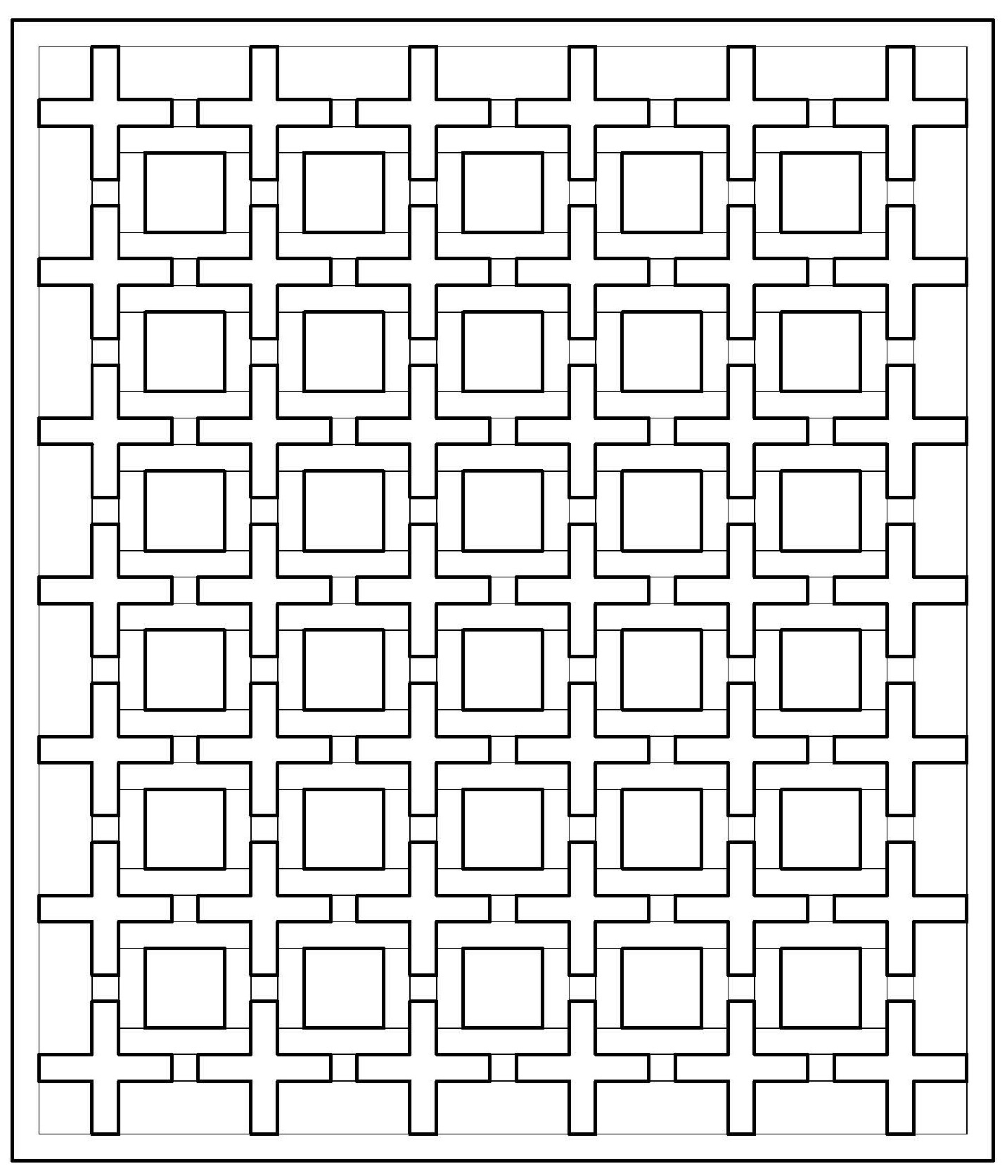 Coloring Pages Quilt Squares : Positive space quilt along coloring pages jenna brand