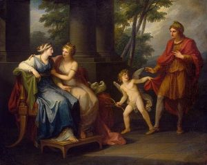 """Venus Induces Helen to Fall in Love with Paris"" - Angelica Kauffmann - 1790"