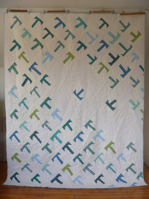 T is for Tipsy quilt by Dorie Schwarz