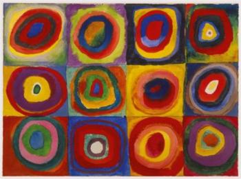 Color Study: Squares with Concentric Circles- Wassily Kandinsky- 1913