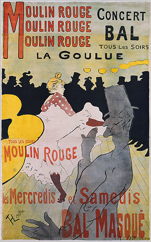 """Moulin Rouge: La Goulue"" - 1891Henri de Toulouse-Lautrec"