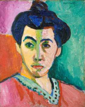 Portrait of Madame Matisse. (The green line) - Henri Matisse - 1905