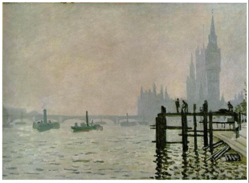 "Monet - ""Westminster Bridge"" - 1871"