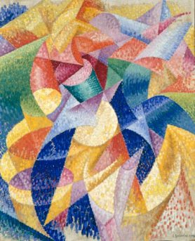 Sea = Dancer (1914) by  Gino Severini
