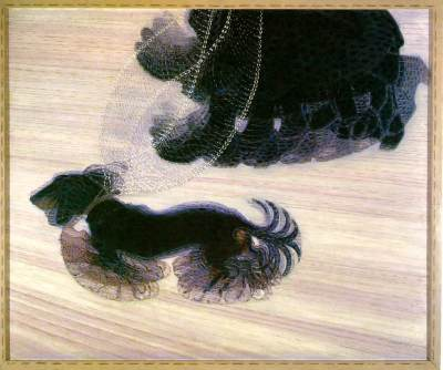 Dynamism of A Dog on a Leash (1912) by Giacomo Balla