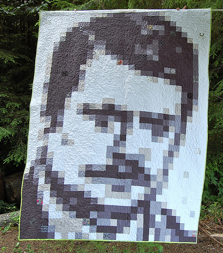 Image used with permission.  The Ron Swanson quilt by Monica Solorio-Snow