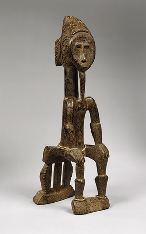 Seated Male, 19th–20th century - Côte d'Ivoire