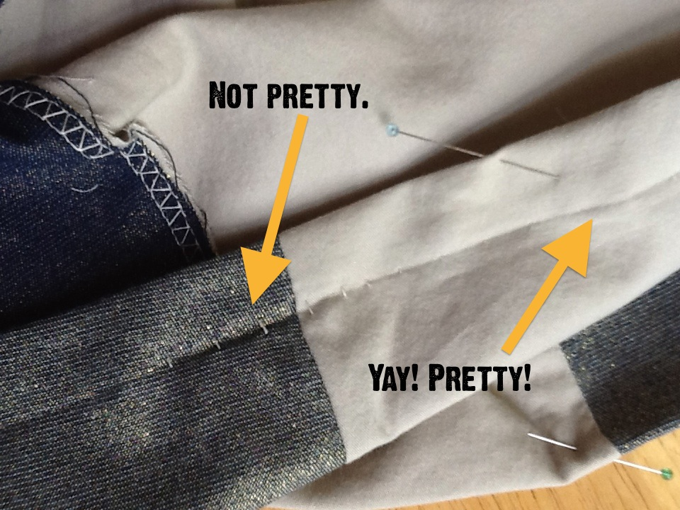 Pants To Skirt And BlindHem Tutorial Jenna Brand Magnificent Blind Hem Stitch Pants Sewing Machine